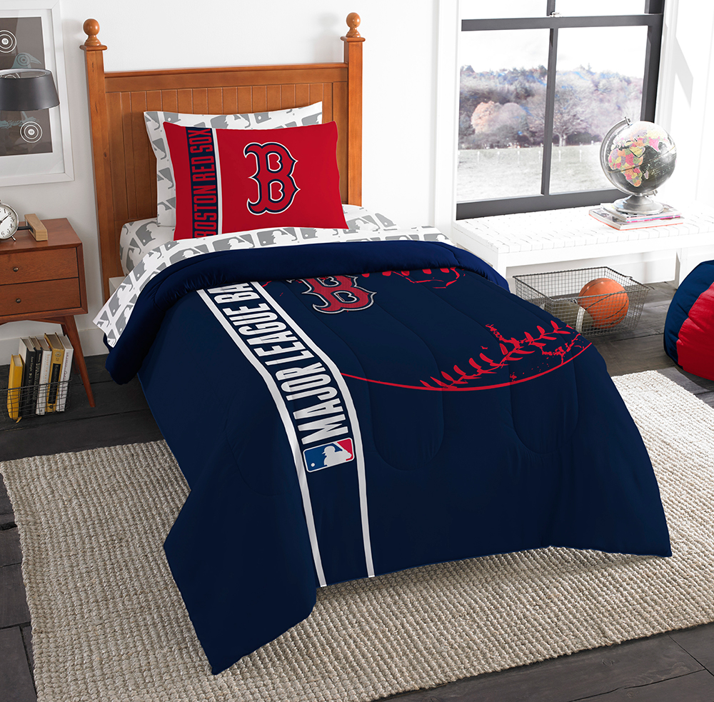 Boston Red Sox Mlb Twin Comforter Bed In A Bag Soft