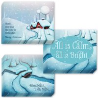Pretty Winter Christmas Cards 24 Pack with Envelopes 3 Assorted Snowy Scenes & Peaceful Wishes Send Warm Holiday Greetings to Family Friends & Office Coworkers 24 Mix Boxed Set by Digibuddha VHA0030B