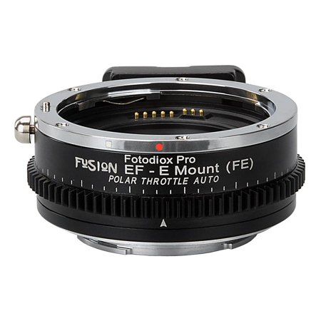 Vizelex Polar Throttle Fusion Smart AF Lens Adapter - Canon EOS EF (NOT EF-S) D/SLR Lens to Sony Alpha E-Mount Mirrorless Camera with Full Automated Functions and Built-In Circular Polarizing (Polarizing Means)