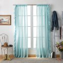 "The Pioneer Woman Chambray Ruffle Pole Top 63"" Curtain Panel"
