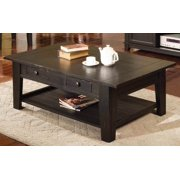 Liberty 2 Drawer Cocktail Table in Antique Black