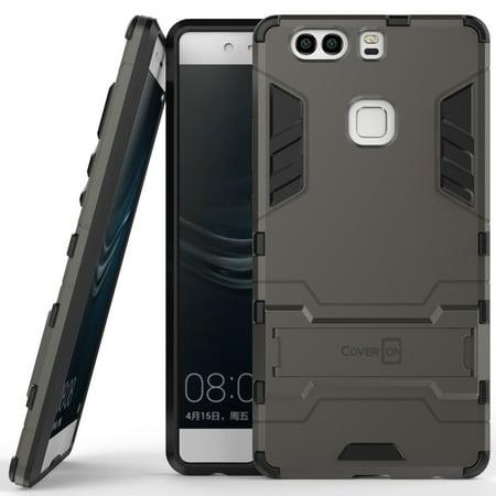 wholesale dealer 813a3 162dc CoverON Huawei P9 Plus Case, Shadow Armor Series Hybrid Kickstand Phone  Cover