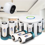 Arlo Security Camera System, RCR123A Lithium-Ion Rechargeable Batteries for Arlo Security Camera (VMC3030/3200/3230/3330/3430/3530), UL UN Certified, 8-Pack