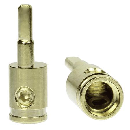 Pair (2) of Car Audio 4 Gauge to 8 Gauge Amp Input Gold Reducers FREE