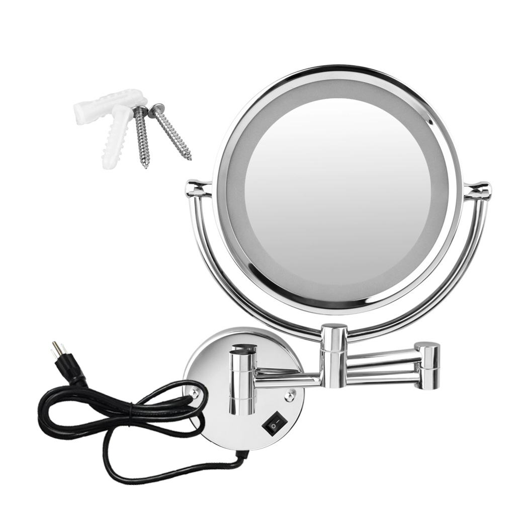 Superieur Excelvan Wall Mounted LED Double Side Swivel Lighted Wall Mount Makeup  Mirror 8 Inch 10x Magnification Mirror   Walmart.com