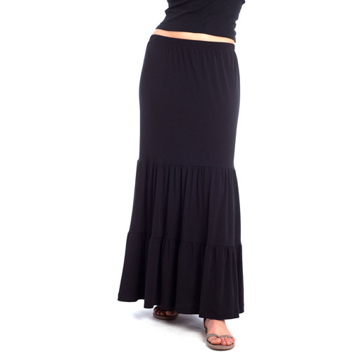 Susie Rose - Juniors Tiered Maxi Skirt