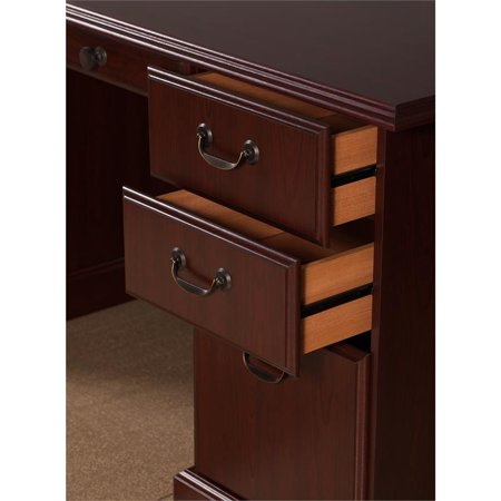 kathy ireland Office Manager's Desk and Bookcase in Harvest Cherry - image 2 de 8