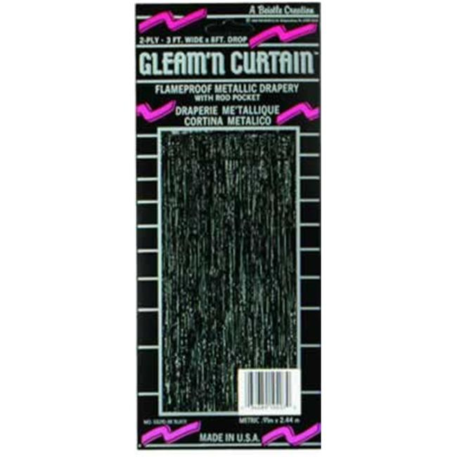 Beistle - 55210-BK - 2-Ply FR Gleam N Curtain - Pack of 6