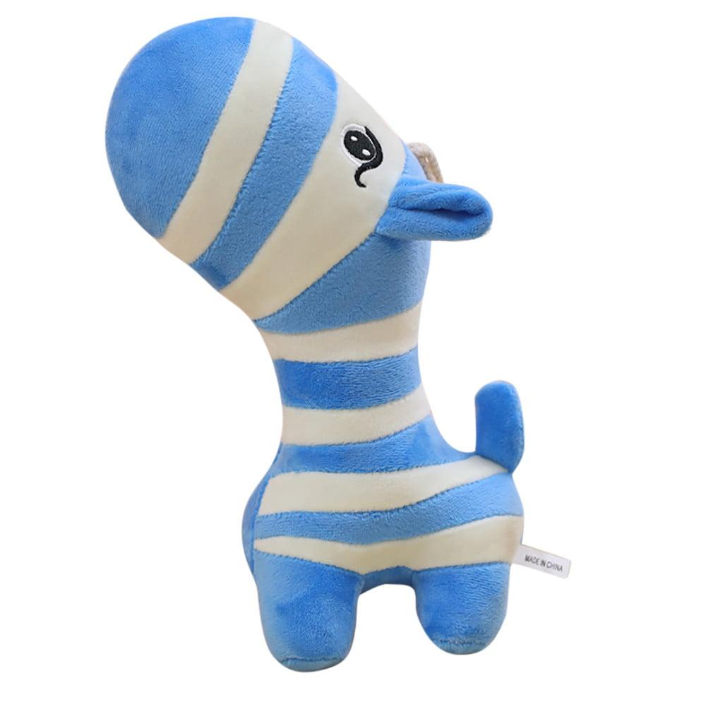 DZT1968 Kids Stuffed Toy Animal Soft Simulation Lovely Plush Doll Cute Zebra Toy