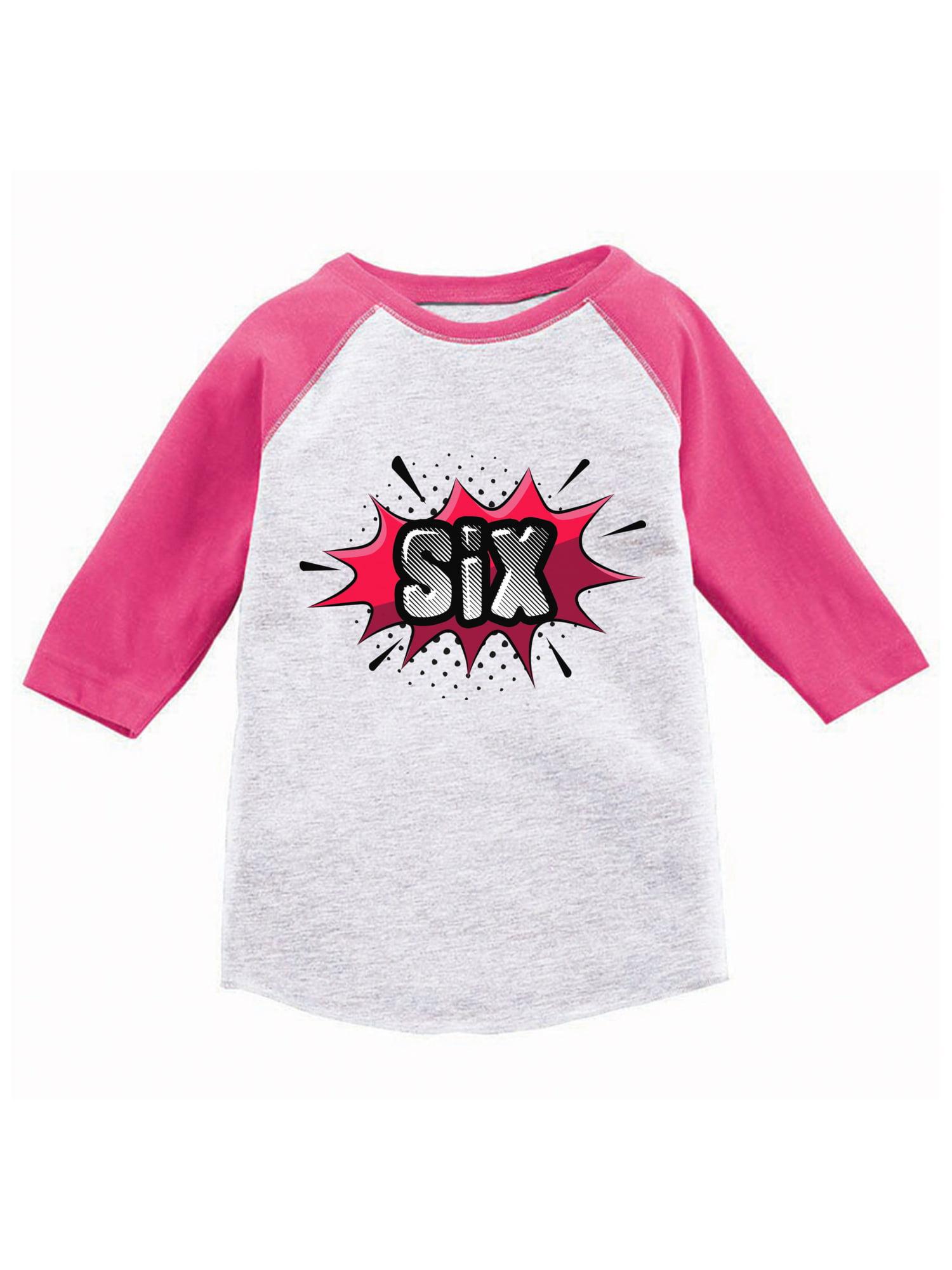 Awkward Styles Awkward Styles 6th Birthday Raglan Shirt Sixth Birthday Shirt Boys Girls Kids 6th Birthday Gift For 6th Birthday Kids Youth Raglan Pop Art Superhero Shirt Pop Art Style Shirt
