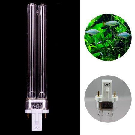 9W Aquarium Fish Tank Germicidal Lamp UV Sterilizer Canister Filter