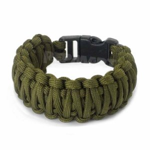 Knotty Boys 102 9 Diameter Large OD Green Fat Boy Style Survival Bracelet with Hand Tied Nylon Cord Multi-Colored