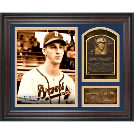 Warren Spahn Atlanta Braves Fanatics Authentic Framed 15