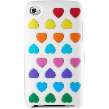 Image of Agent18 THVX/BM Heart Vest Silicone Case for iPod Touch 4G - White/Multi