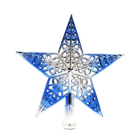 Christmas Tree Top Sparkle Stars Hang Xmas Decoration Ornament Treetop Topper ()