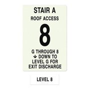 INTERSIGN NFPA-PVC1812(AGA8) NFPASgn,StairIdA,Floors Served G to 8 G0263761