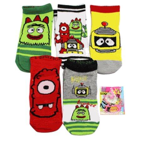 Yo Gabba Gabba Assorted Character Socks (Shoe Size 7-10 Toddler, 3 Pairs)](Yo Gabba Gabba Shoes)