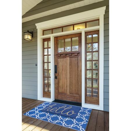 DII Blue Hello Doormat
