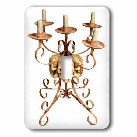 3dRose Halloween Skull Triple Candelabra - Single Toggle Switch (lsp_131350_1) - Skull Candelabra