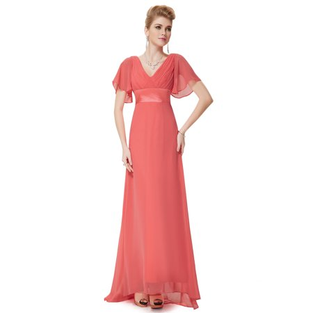 8299bf65197 Ever-Pretty - Ever-Pretty Womens Plus Size Full Length Chiffon Formal  Evening Prom Ball Gown for Women 09890 Coral US22 - Walmart.com