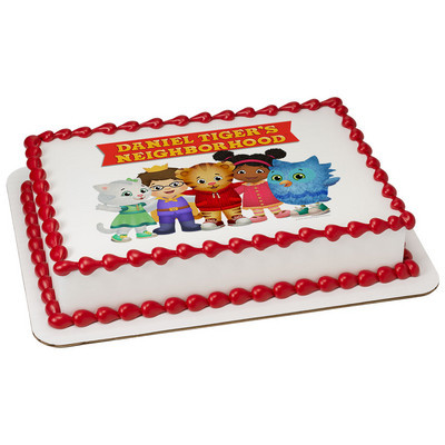 Daniel Tiger Edible Icing Image Cake Topper (1/4 Sheet)