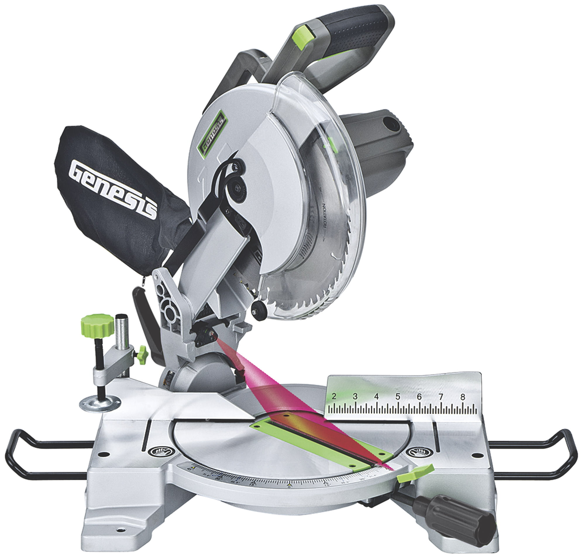 """Genesis 10"""" Compound Miter Saw with Laser by Richpower"""