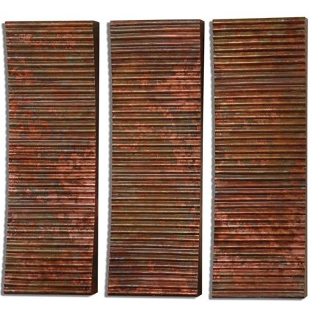 Uttermost adara copper wall art set of 3