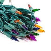 ALEKO Christmas Indoor/Outdoor Traditional 50 String Lights - 26 Foot - Multicolored