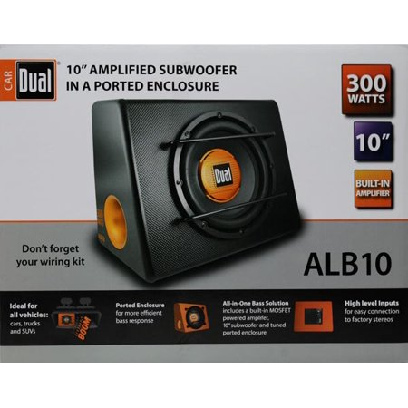 Dual alb10 10 subwoofer with ported enclosure 300w for What goes into 42