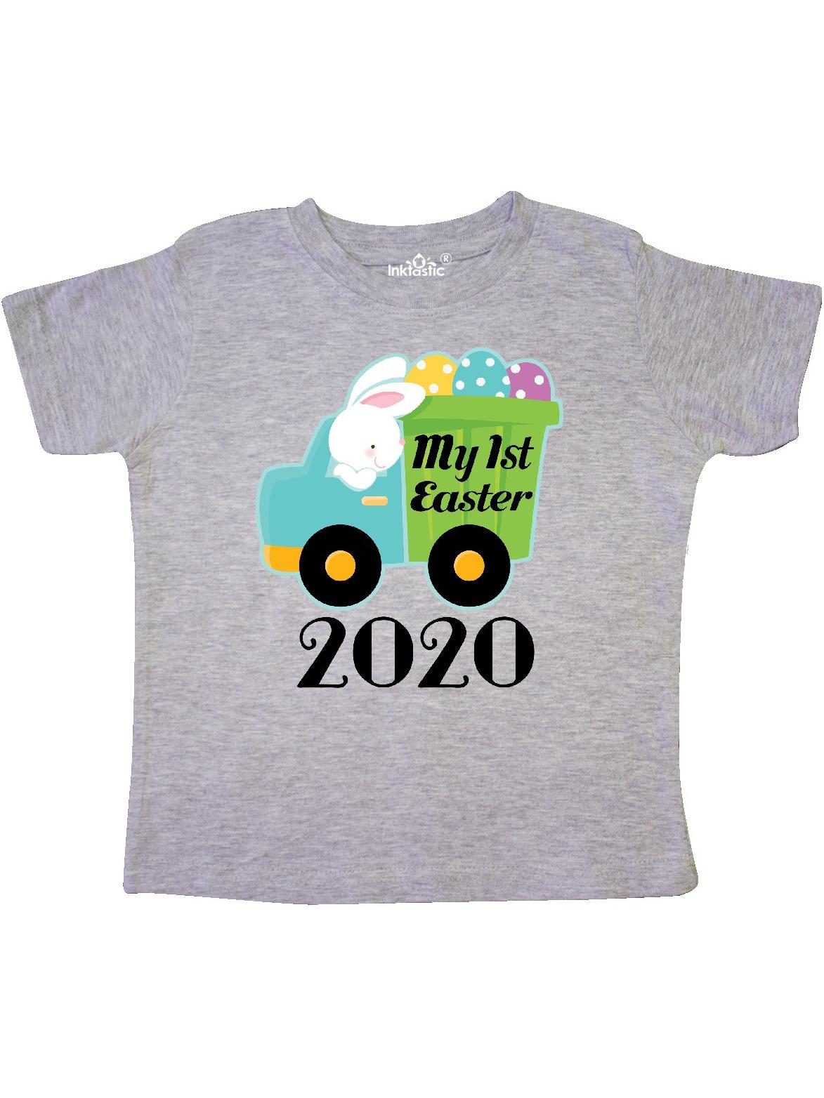 inktastic My 1st Easter Bunny Rabbit Egg Truck Toddler T-Shirt
