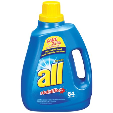 All 2X Ultra Stainlifter Liquid Laundry Detergent  100 Oz