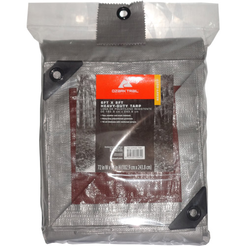 Ozark Trail Heavy-Duty Tarp, Silver/Brown
