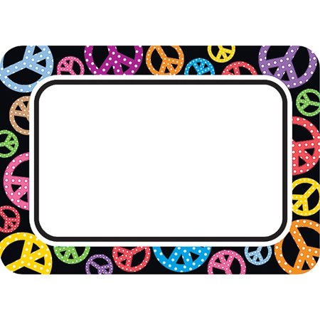 PEACE SIGNS NAME TAGS LABELS - Name Tage