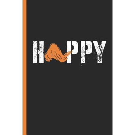 Happy: Chicken Wings Lover & BBQ Notebook, Journal or Diary Gift, College Ruled Paper (120 Pages, 6x9)