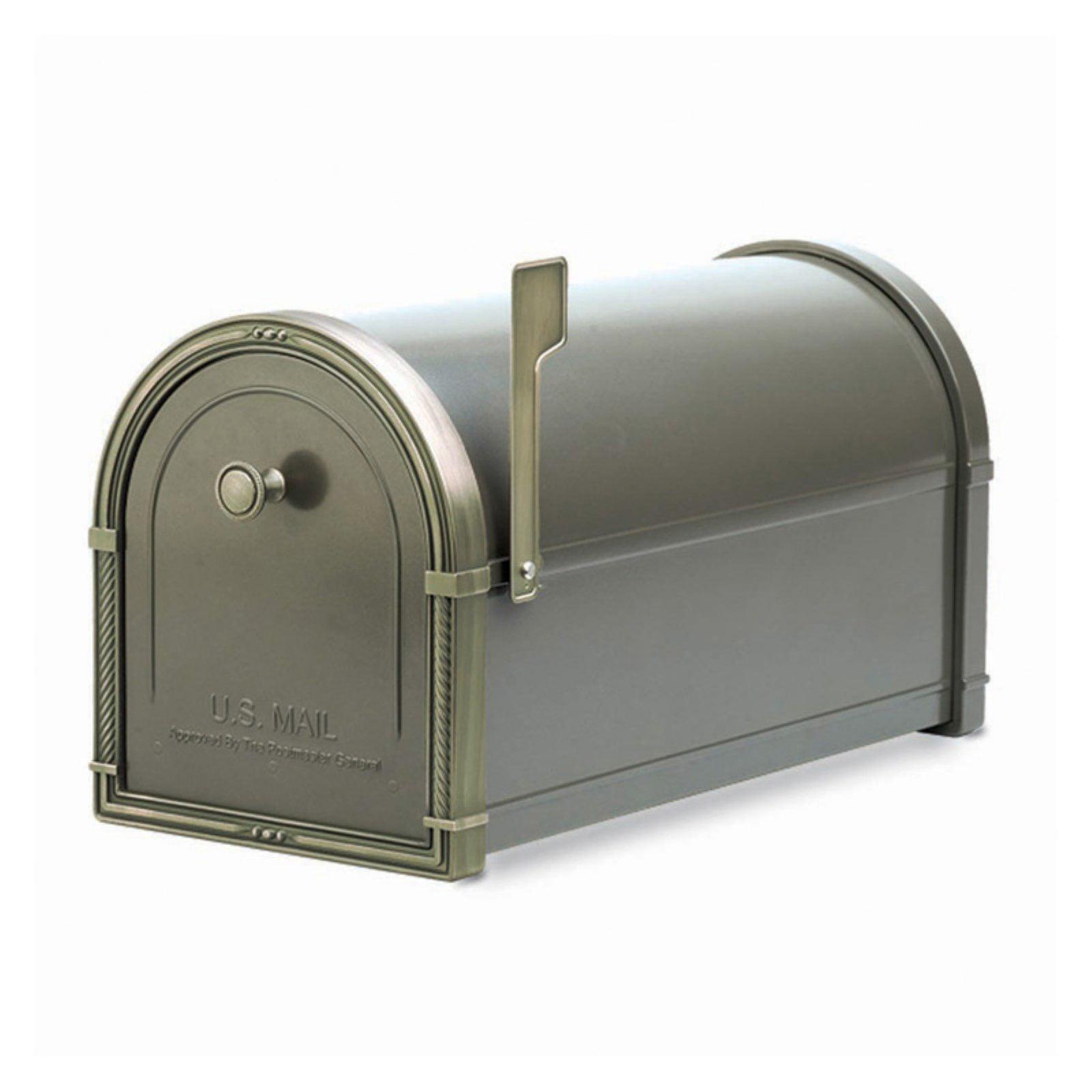 Picture of: Architectural Mailboxes Coronado Mailbox Black With Antique Bronze Accents Walmart Com Walmart Com