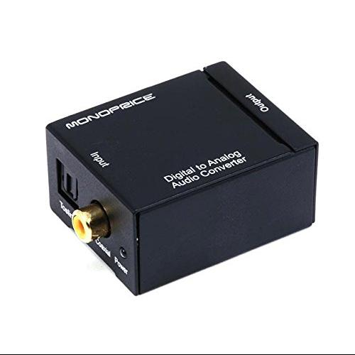 AGPtek Digital Optical Fiber\/Coaxial Analog Audio Converter