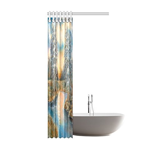 GCKG Winter Spring SunLake Shower Curtain Hooks 36x72