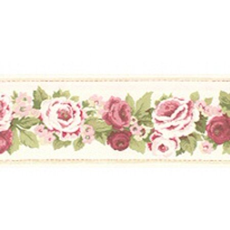 878194 Narrow Antique Floral Cream Wallpaper Border (Antique Wallpaper)