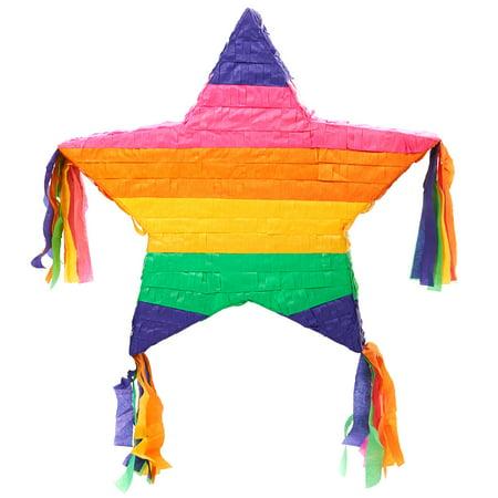 Rainbow Star 16'' Pinata - Star Pinata