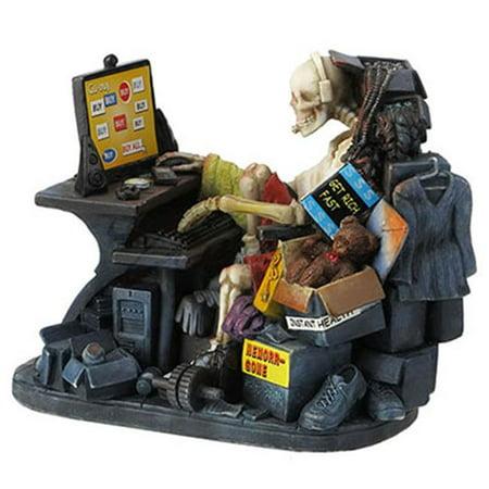 Internet Shopping Skeleton Decorative Figurine (Skeleton Basket)