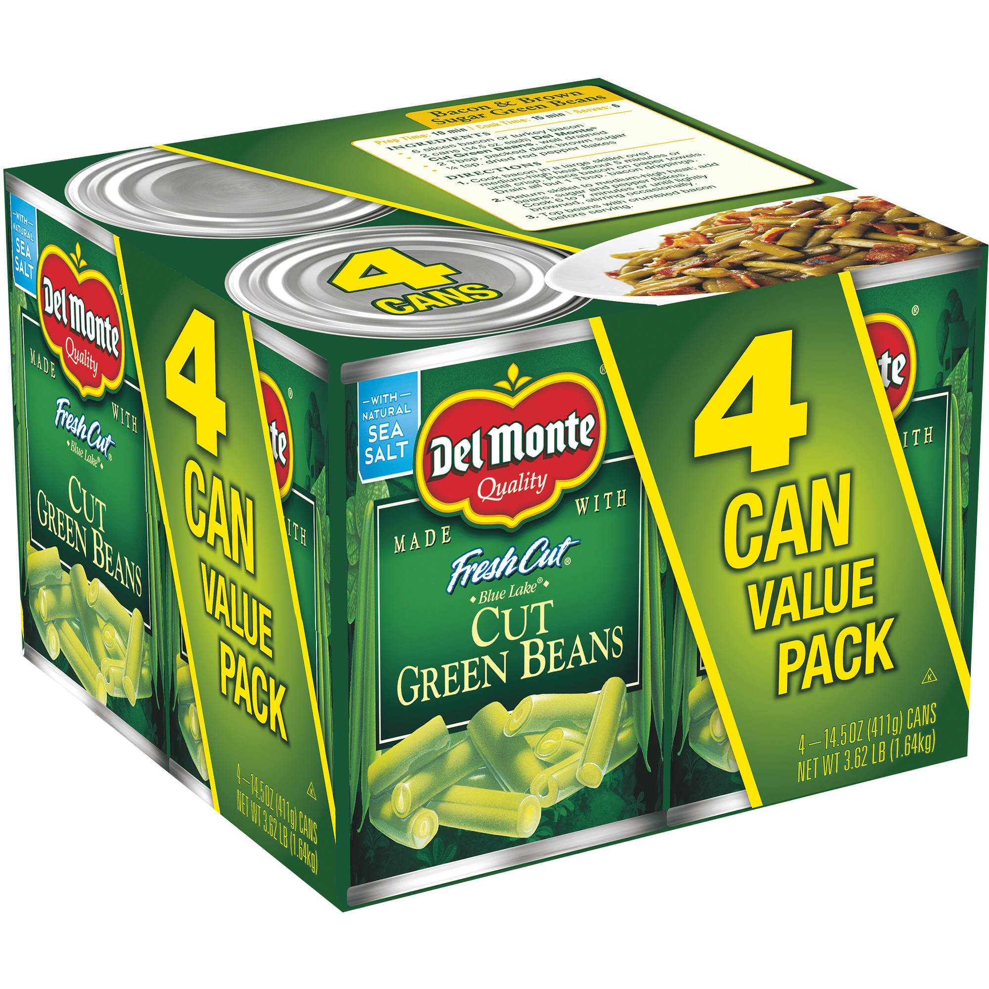 Del Monte Fresh Cut Blue Lake Cut Green Beans, 14.5 oz, 4 count