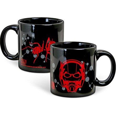 Marvel Ant-Man Mask Mug 20oz Scott Lang Paul Rudd Black Movie Drinkware