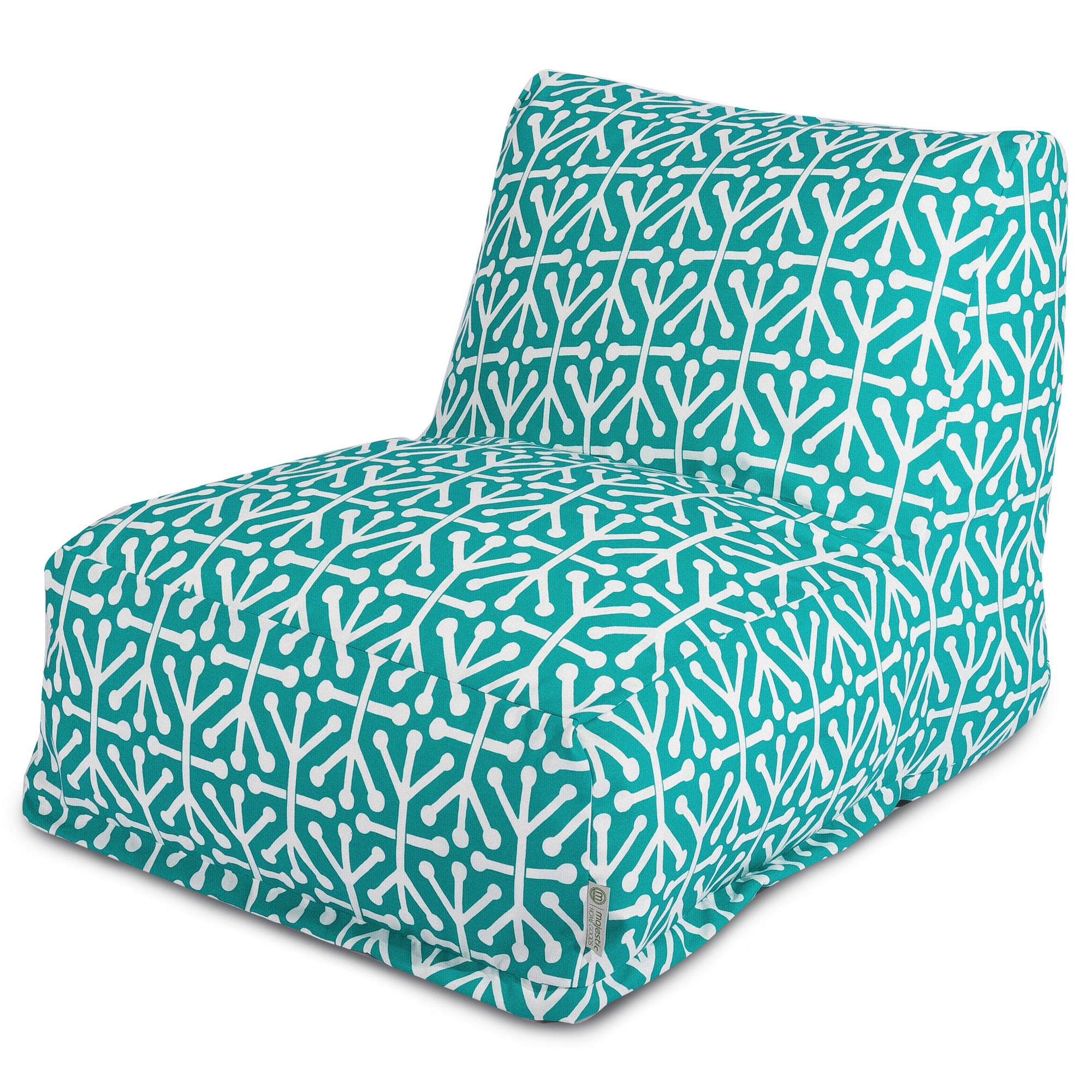 Majestic Home Goods Indoor Outdoor Pacific Aruba Chair Lounger Bean Bag 36 in L x 27 in W x 24 in H
