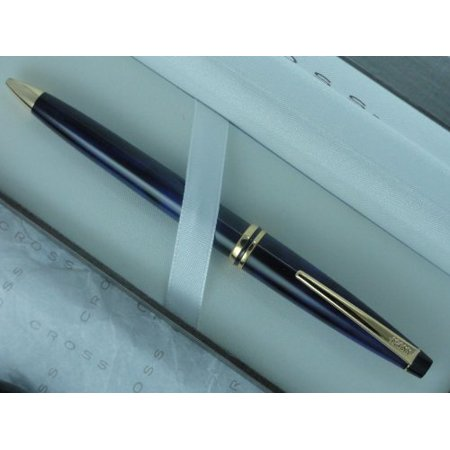 Indigo Lacquer and 23k Gold Solo Pencil with 0.5MM, *CROSS PERPETUAL LIFE mechanical WARRANTY IRRESPECTIVE OF AGE By Cross Ship from -