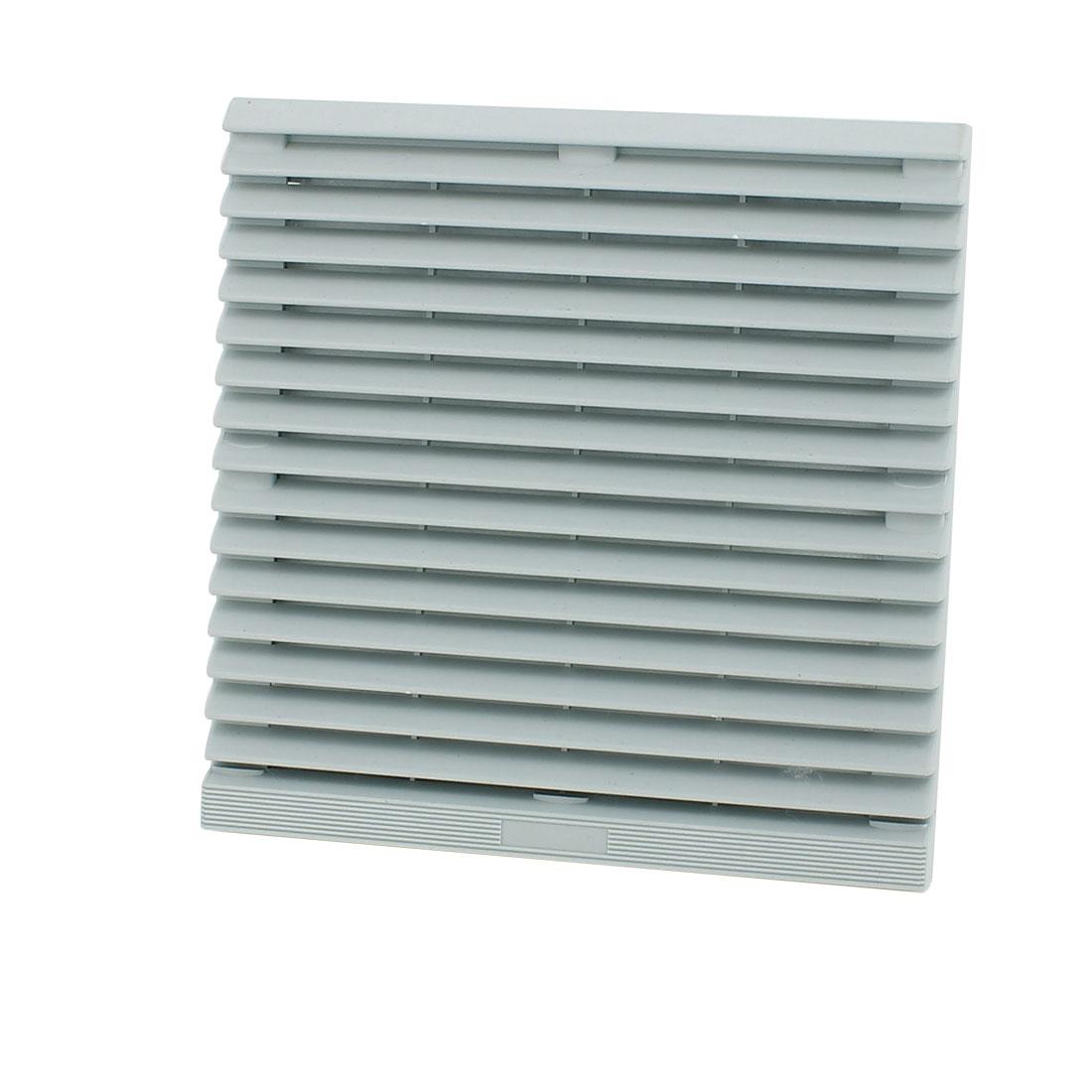 204 x 204mm Plastic Cabinet Washable Axial Flow Fan Foam Dust Filter w Seal Ring
