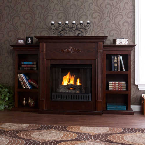 DNP - Mantel - Griffin Fireplace, Espresso**BOX 1