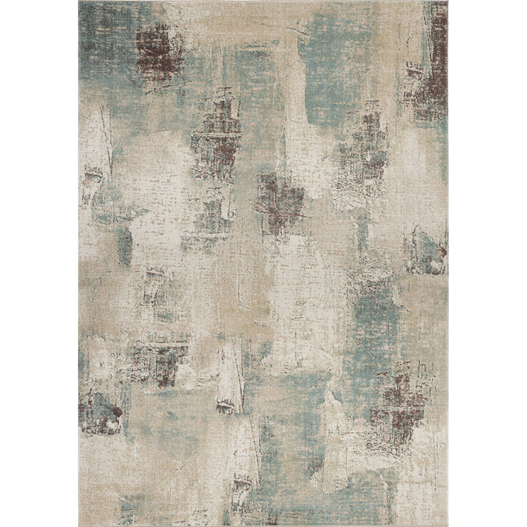 Ladole Rugs Rustic Beige Brown Teal Green Abstract Pattern Indoor Outdoor Area Rug Tapis Walmart Canada
