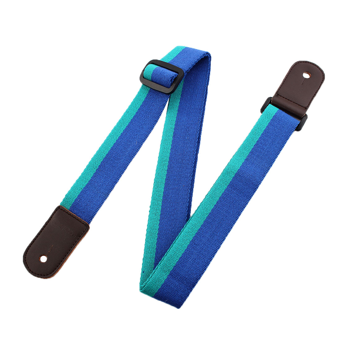 Faux Leather End Acoustic Electric Guitar Shoulder Strap Bass Belt Blue Green