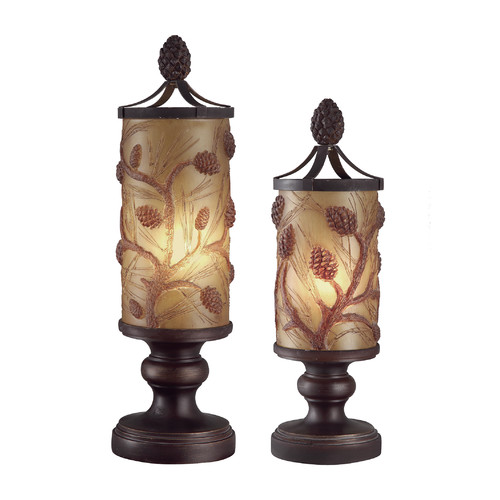 Crestview Collection Autumn's Table and Floor Lamp Set (Set of 2)