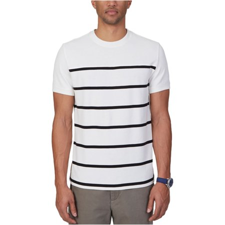 Nautica Mens Slim Fit Stripe Graphic T-Shirt Off Mens Clothing